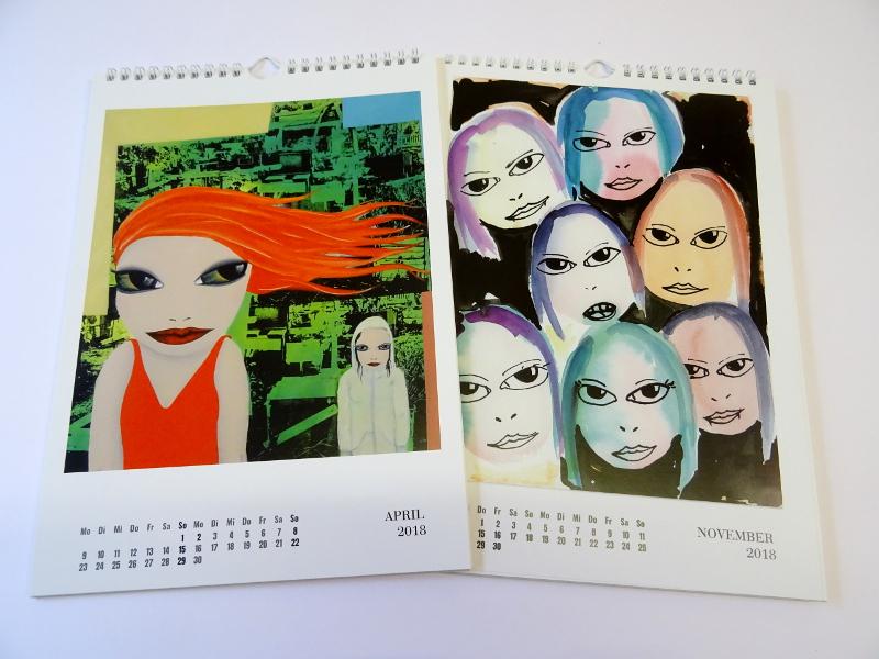 Künstlerkalender Kalenderblätter