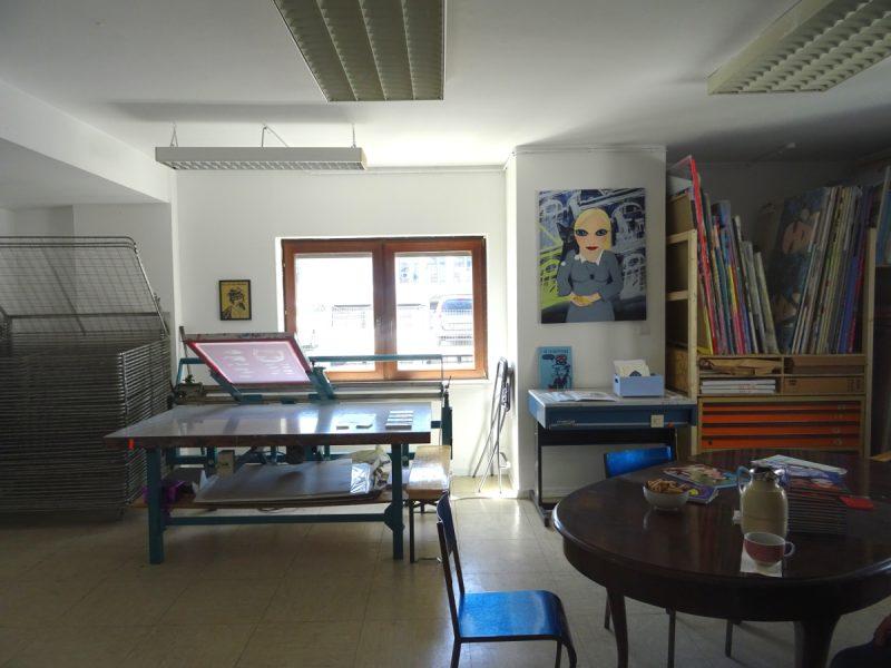 Neues Siebdruck-Atelier