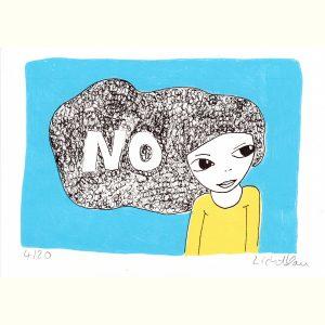 No nicht anfassen - mein Haar gehört mir, Augenmädchen Portrait